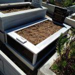 Tek Kişilik Baş Taşı Gövde Granit Mezar Modeli