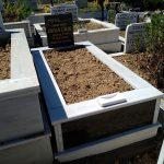 Tek Kişilik Baş Taşı Gövde Granit Mezar Modeli 2