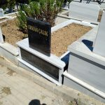 Tek Kişilik Baş Taşı Gövde Granit Mezar Modeli 5