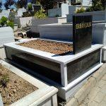 Tek Kişilik Baş Taşı Gövde Granit Mezar Modeli 7