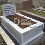 Tek Kişilik Geniş Baş Taşlı Mermer Mezar-10