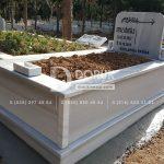 Tek Kişilik Geniş Baş Taşlı Mermer Mezar-2