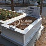 Tek Kişilik Geniş Baş Taşlı Mermer Mezar-4