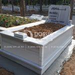 Tek Kişilik Geniş Baş Taşlı Mermer Mezar-5