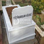 Tek Kişilik Geniş Baş Taşlı Mermer Mezar-6