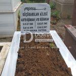 Tek Kişilik Geniş Baş Taşlı Mermer Mezar-7