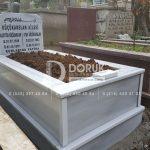 Tek Kişilik Geniş Baş Taşlı Mermer Mezar-8