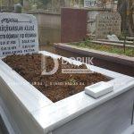 Tek Kişilik Geniş Baş Taşlı Mermer Mezar-9