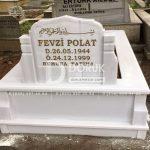 Tek kisilik Sut Beyazi Mermer Mezar -17