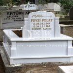 Tek kisilik Sut Beyazi Mermer Mezar -19