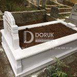 Tek kisilik Sut Beyazi Mermer Mezar -20