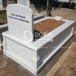 Tek kisilik Sut Beyazi Mermer Mezar -22