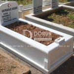 Tek kisilik Sut Beyazi Mermer Mezar -25