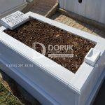 Tek kisilik Sut Beyazi Mermer Mezar -29