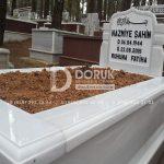 Tek kisilik Sut Beyazi Mermer Mezar -3