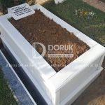 Tek kisilik Sut Beyazi Mermer Mezar -33