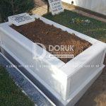 Tek kisilik Sut Beyazi Mermer Mezar -35