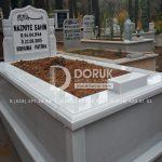 Tek kisilik Sut Beyazi Mermer Mezar -4