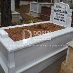 Tek kisilik Sut Beyazi Mermer Mezar -6
