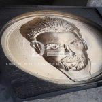 Granit Uzerine 3 Boyutlu YUz Kabartmasi – Altin Yaldiz-3