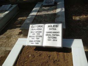 Tek Kişilik Baş Taşı Kitabe Süt Beyazı Mermer Mezar