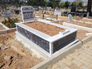 Tek Kişilik Gövde Siyah Mermer Mezar