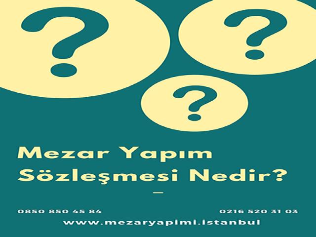 Mezar yapımı sözleşmesi İstanbul Büyükşehir Belediyesi Mezarlıklar Müdürlüğü tarafından hazırlanmaktadır. İstanbul Mezarlıklar Müdürlüğünden çalışma ruhsatı almış mermercilere verilmiş hazır sözleşmelerdir. Bu sözleşmeyi cenaze sahibinin 1.dereceden yakınları (eşi, çocukları, annesi, babası, kardeşleri) imzalayabilir. Bu kişiler mezarlık müdürlüğüne belirli sebeplerden dolayı gitme durumları söz konusu değilse, noterden vekalet verilmiş kişide bu sözleşmeyi imzalayabilir. Sözleşmede cenazenin bulunduğu mezarlık, mezarın kaç kişilik olduğu, yapılacak mezarın özellikleri, mezar inşaatının fiyatı, cenaze sahibinin adı soyadı, mezar inşaatını yapacak mermercinin adı soyadı kaşesi vb. gibi ifadeler yer almaktadır